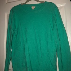 J Crew Factory Cashmere Sweater Turquoise Size L